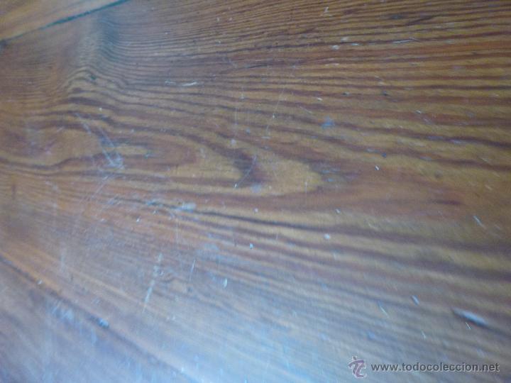 Antigüedades: Antigua y grande mesa plegable ovalada, madera pino melis. - Foto 7 - 50481914