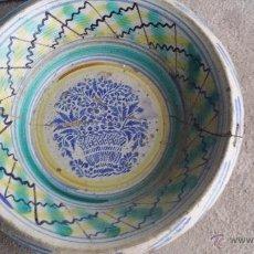 Antigüedades: ANTIGUO LEBRILLO DE TRIANA PINTADO A MANO. Lote 50485094