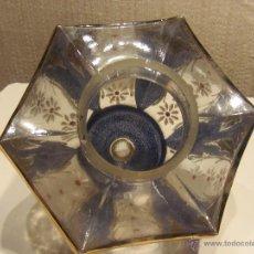 Antigüedades: TULIPA MODERNISTA PINTADA AL FUEGO . Lote 50487601