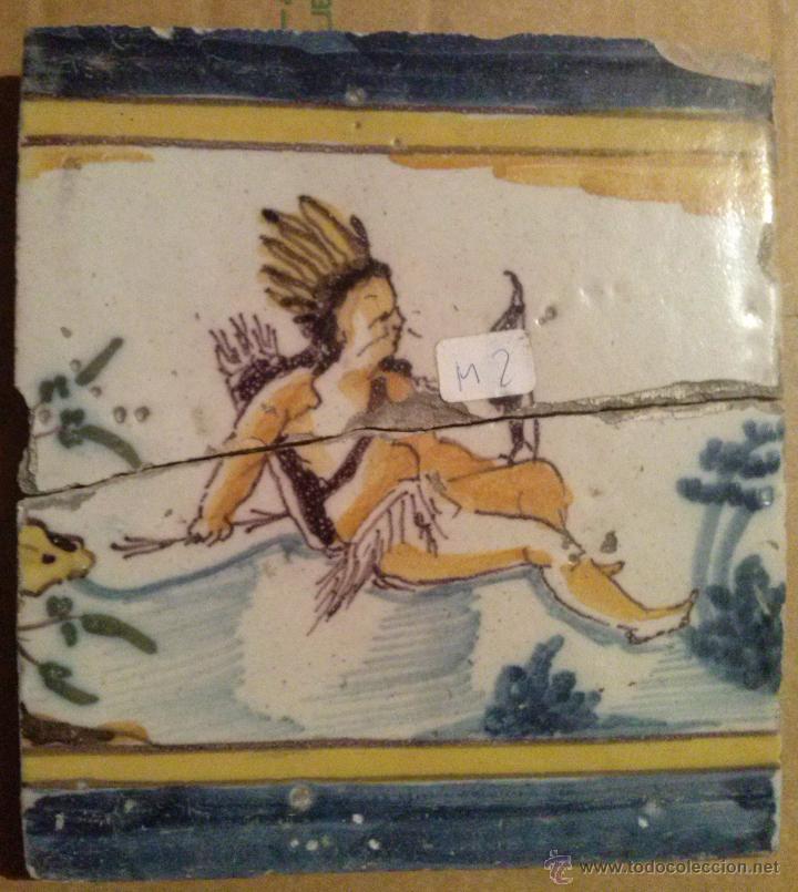 Antigüedades: Excepcional Contrahuella de ceramica Triana Siglo XVII - Foto 3 - 45596947