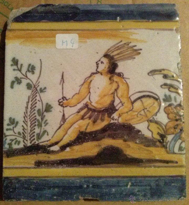 Antigüedades: Excepcional Contrahuella de ceramica Triana Siglo XVII - Foto 5 - 45596947