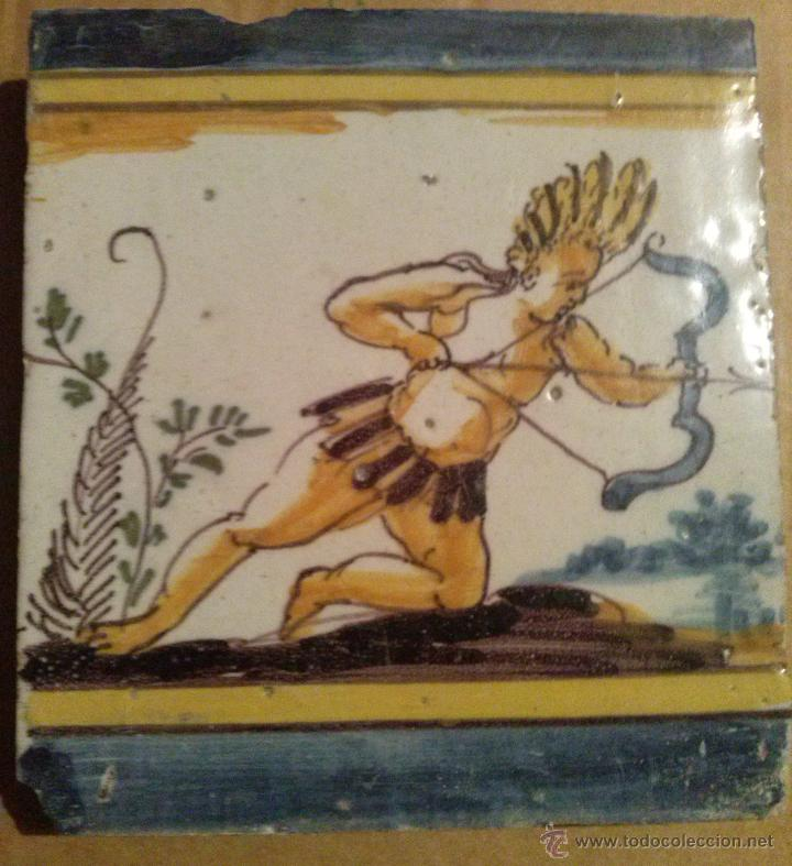 Antigüedades: Excepcional Contrahuella de ceramica Triana Siglo XVII - Foto 7 - 45596947