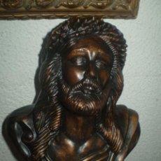 Antigüedades: BUSTO DE CRISTO DE ESTUCO. Lote 50489832