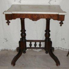 Antigüedades: PRECIOSA MESA VELADOR ANTIGUA. ART DECÓ. CON TABLERO DE MÁRMOL.. Lote 50492729