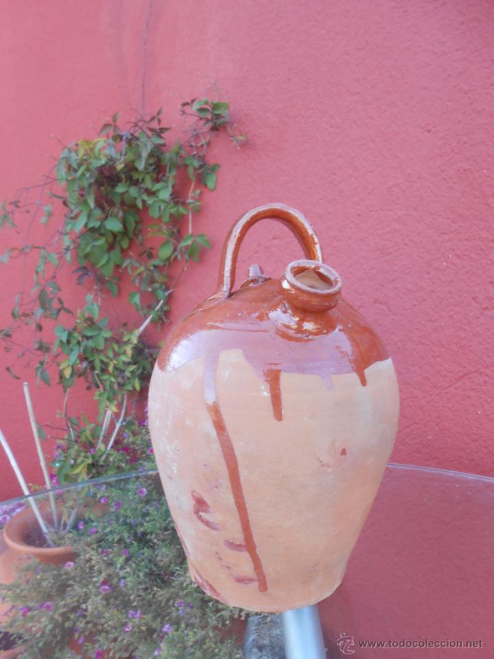 Antigüedades: ANTIGUO BOTIJO DE BARRO ESMALTADO - Foto 4 - 50509991