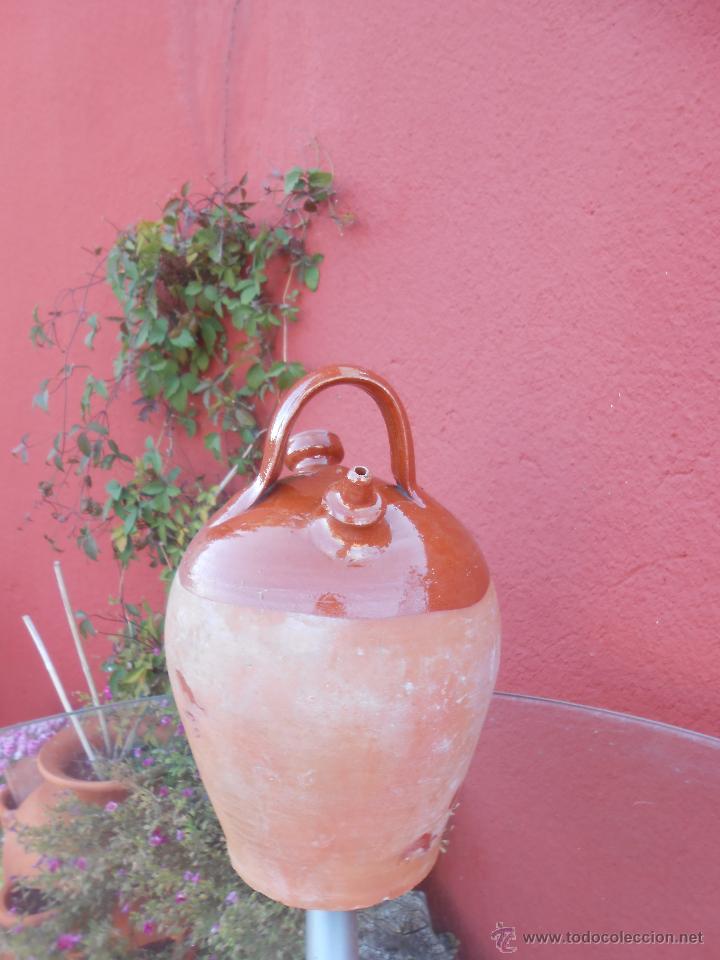 Antigüedades: ANTIGUO BOTIJO DE BARRO ESMALTADO - Foto 5 - 50509991