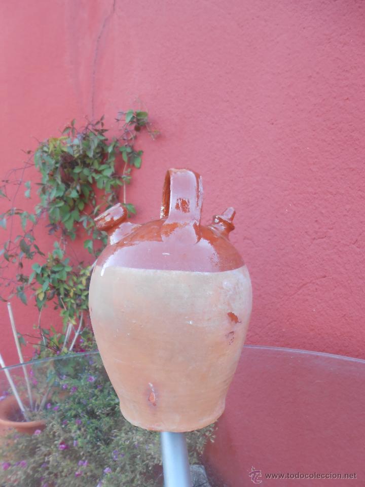 Antigüedades: ANTIGUO BOTIJO DE BARRO ESMALTADO - Foto 6 - 50509991
