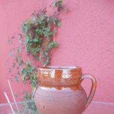 Antigüedades: ANTIGUO POCILLO O JARRILLA DE BARRO ESMALTADO. Lote 50511939
