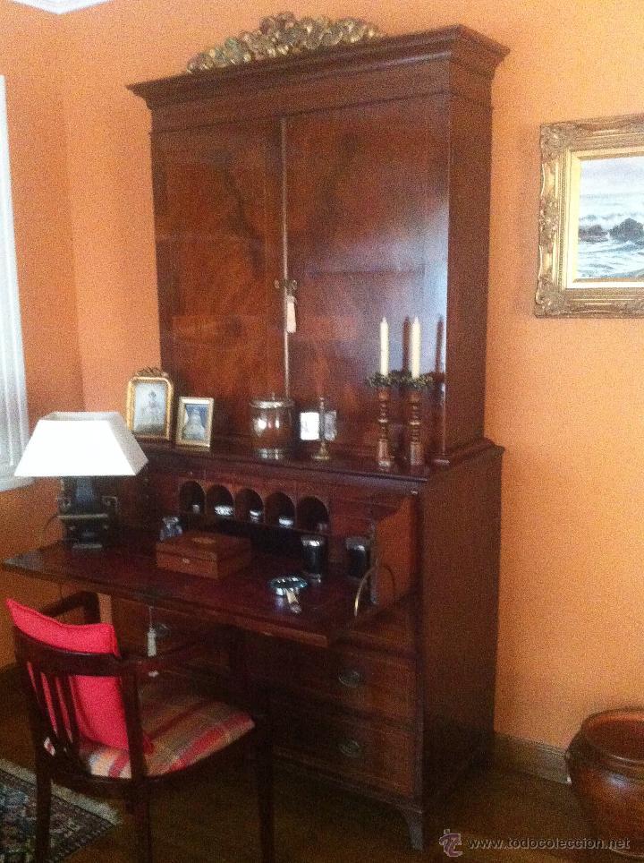 Antigüedades: Mueble secreter-librería inglés (madera) - Foto 4 - 43770088