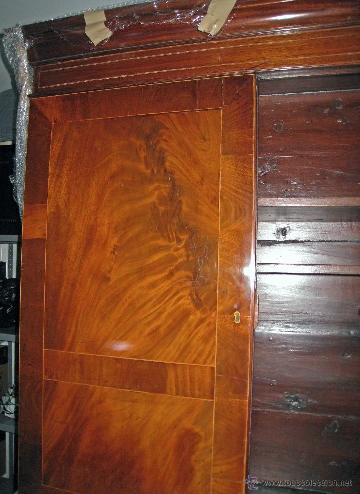 Antigüedades: Mueble secreter-librería inglés (madera) - Foto 5 - 43770088