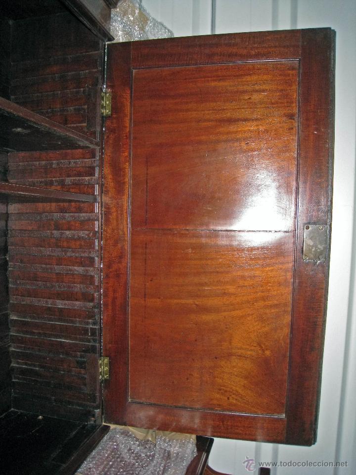 Antigüedades: Mueble secreter-librería inglés (madera) - Foto 8 - 43770088