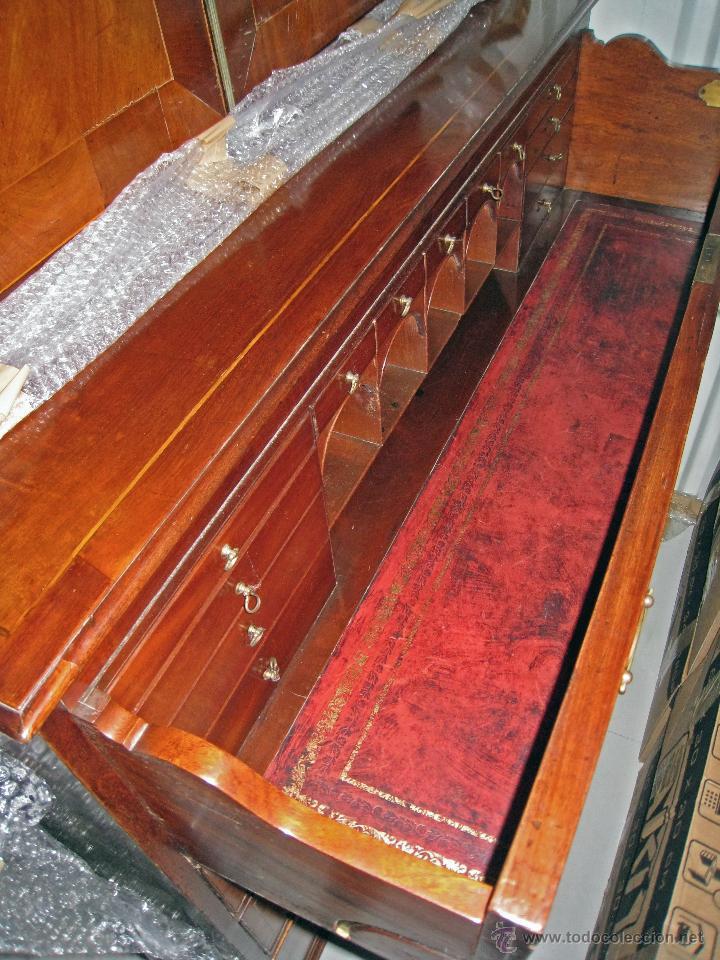 Antigüedades: Mueble secreter-librería inglés (madera) - Foto 11 - 43770088