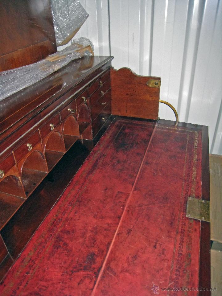 Antigüedades: Mueble secreter-librería inglés (madera) - Foto 13 - 43770088