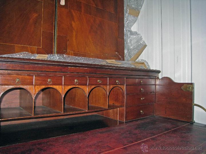 Antigüedades: Mueble secreter-librería inglés (madera) - Foto 14 - 43770088