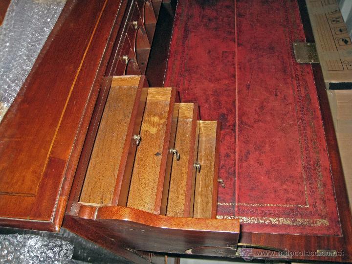 Antigüedades: Mueble secreter-librería inglés (madera) - Foto 15 - 43770088