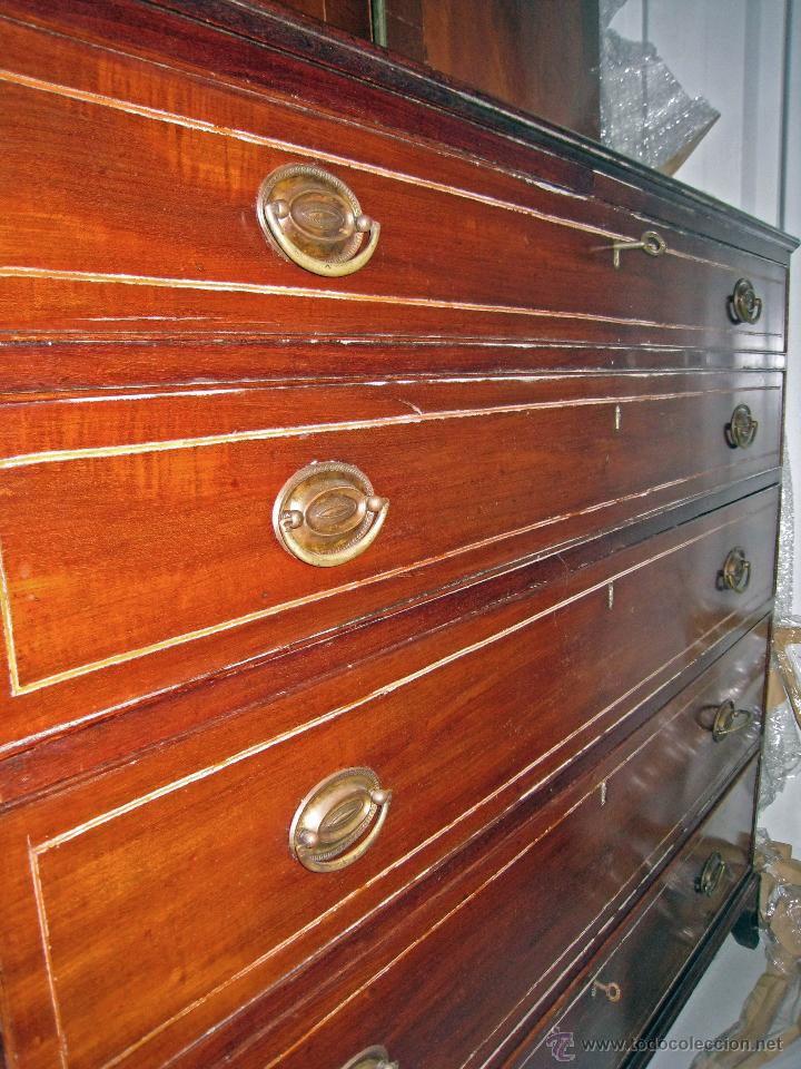 Antigüedades: Mueble secreter-librería inglés (madera) - Foto 20 - 43770088