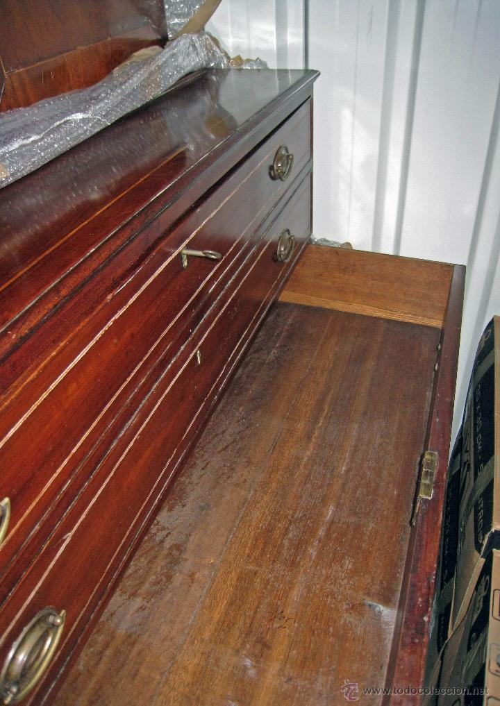 Antigüedades: Mueble secreter-librería inglés (madera) - Foto 23 - 43770088