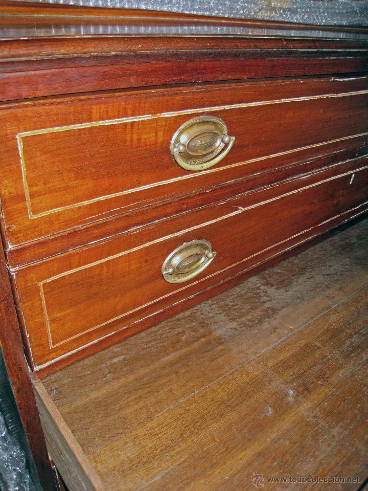 Antigüedades: Mueble secreter-librería inglés (madera) - Foto 24 - 43770088