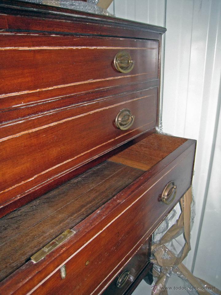 Antigüedades: Mueble secreter-librería inglés (madera) - Foto 25 - 43770088