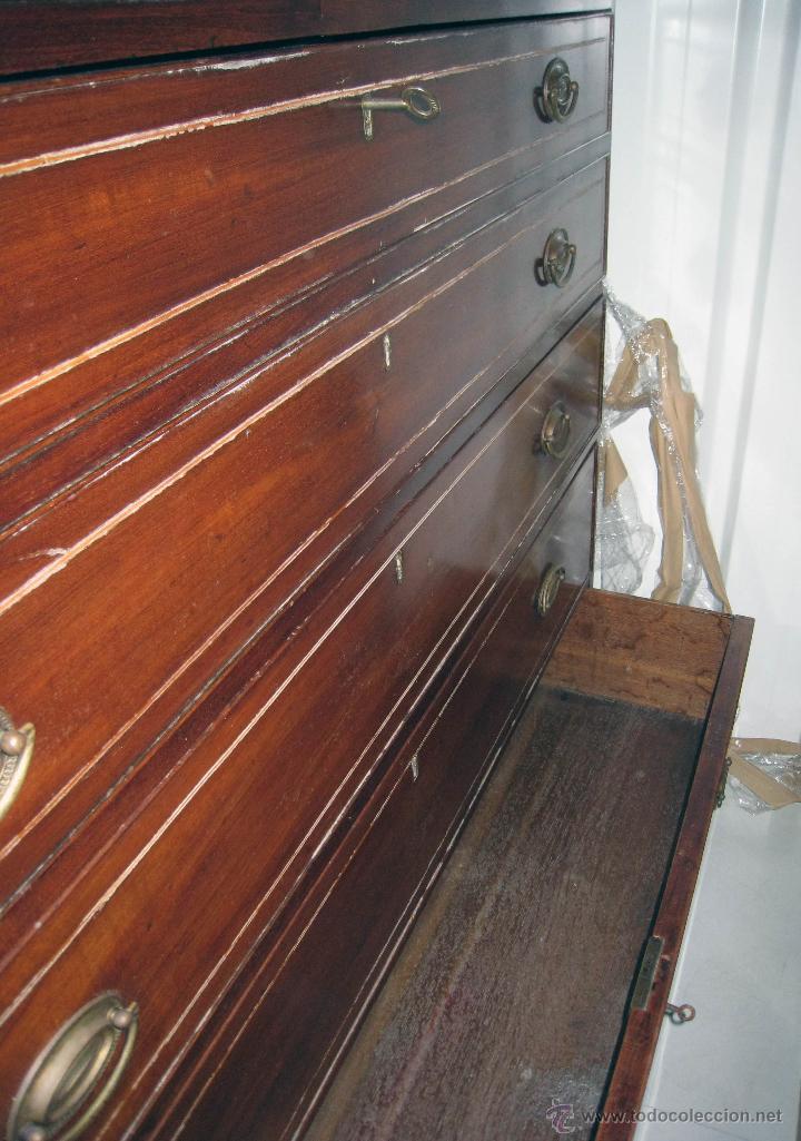 Antigüedades: Mueble secreter-librería inglés (madera) - Foto 28 - 43770088