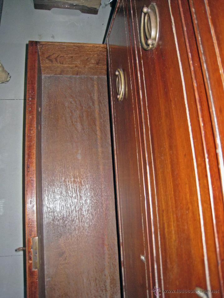 Antigüedades: Mueble secreter-librería inglés (madera) - Foto 29 - 43770088