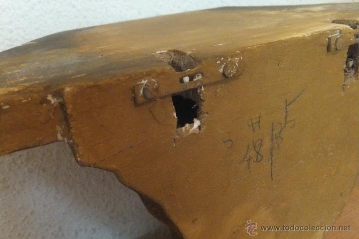 Antigüedades: Mensula o peana de estuco decorada con hojas imitando oro. - Foto 5 - 50516570