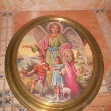 Antigüedades: PRECIOSO MARCO ANTIGUO DE LATON CON LAMINA. Lote 50519732