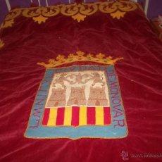 Antigüedades: BONITA BANDERA O PENDON DEL SIGLO 19 DE LA ZONA DE ALICANTE. Lote 50520276