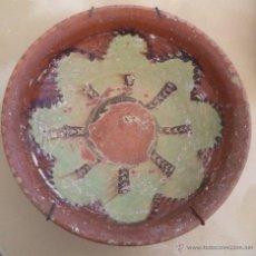 Antigüedades: ANTIGUA ESCUDILLA CUENCO DE CERAMICA POPULAR MEDIEVAL CON ESMALTE MEDIDAS: 26 CM. DE DIÁMETRO POR 8. Lote 50520608