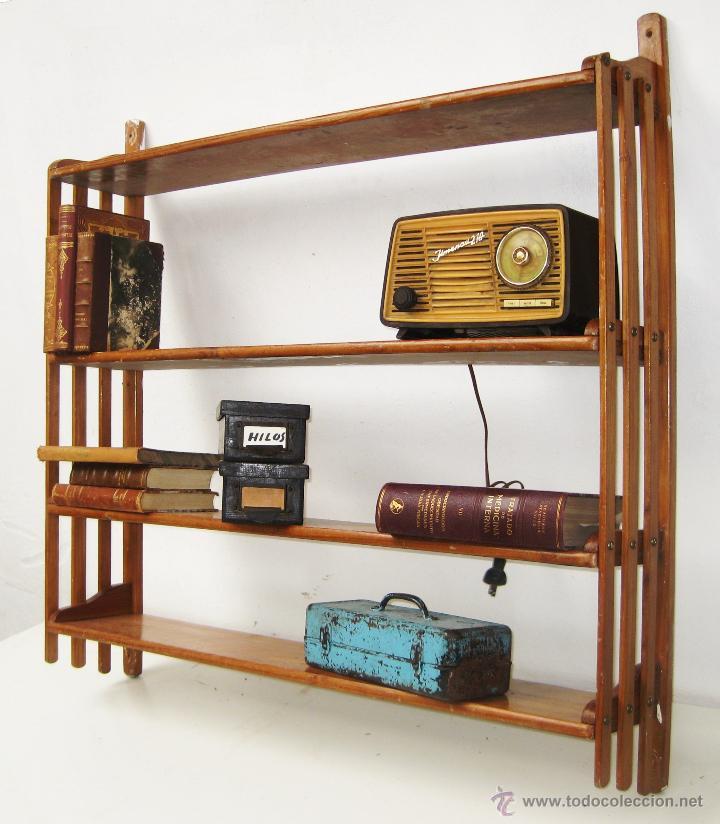 Fantastica gran estanteria antigua libreria en vendido - Estanterias modulares de madera ...