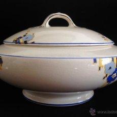 Antigüedades: PRECIOSA SOPERA ART DECÓ MYFAIR 1933. MORLEY WARE - ENGLAND. Lote 50533108