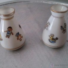 Antigüedades: ANTIGUOS JARRONCITOS CON MOTIVOS INFANTILES. Lote 50536101