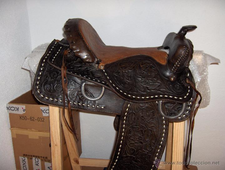 Silla de montar con grabados antigua comprar caballer a antigua en todocoleccion 50536104 - Silla de montar espanola ...