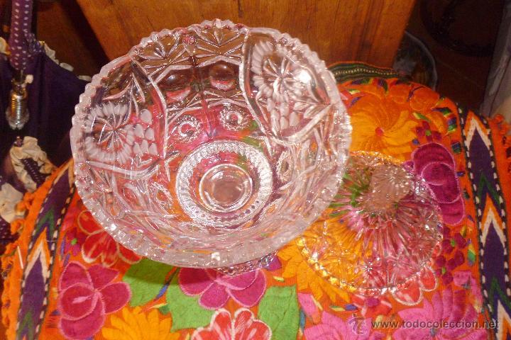 Antigüedades: PRECIOSA COPA BOMBONERA EN CRISTAL TALLADO DE BOHEMIA. - Foto 4 - 50536824