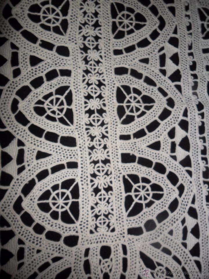 Antigüedades: Encaje veneciano - antiguo tapete - Foto 4 - 50540258