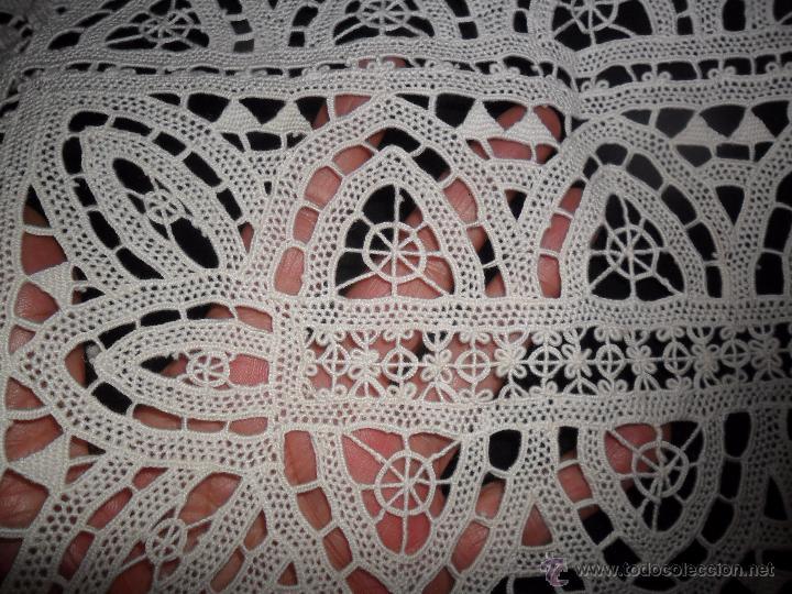 Antigüedades: Encaje veneciano - antiguo tapete - Foto 6 - 50540258