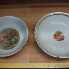 Antigüedades: LOTE DE 2 FUENTES DE CERAMICA SAN CLAUDIO-OVIEDO-3-70 Y 9-66. Lote 50541865