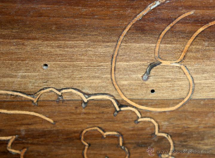Antigüedades: CANTERANO CATALÁN EN MADERA DE NOGAL Y DECORACIONES EN MARQUETERÍA DE BOJ DEL SIGLO XVIII - Foto 19 - 50543379