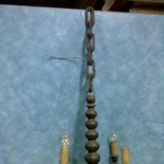 Antigüedades: LAMPARA DE MADERA TORNEADA PARA RESTAURAR. Lote 50547091