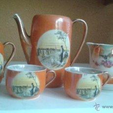 Antigüedades: ANTIGUO RESTO DE JUEGO DE CAFE TAZA TAZAS JARRA. Lote 50549960