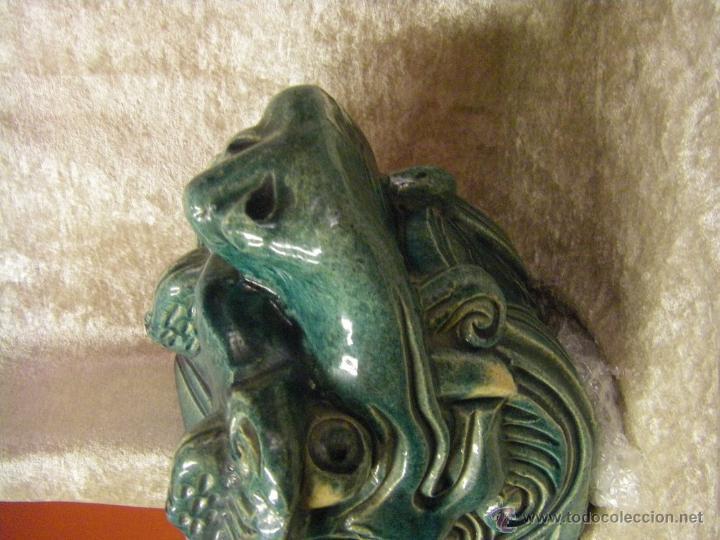 Antigüedades: Linternones cerámicos originarios de China posiblemente siglo XIX - Foto 4 - 50572620