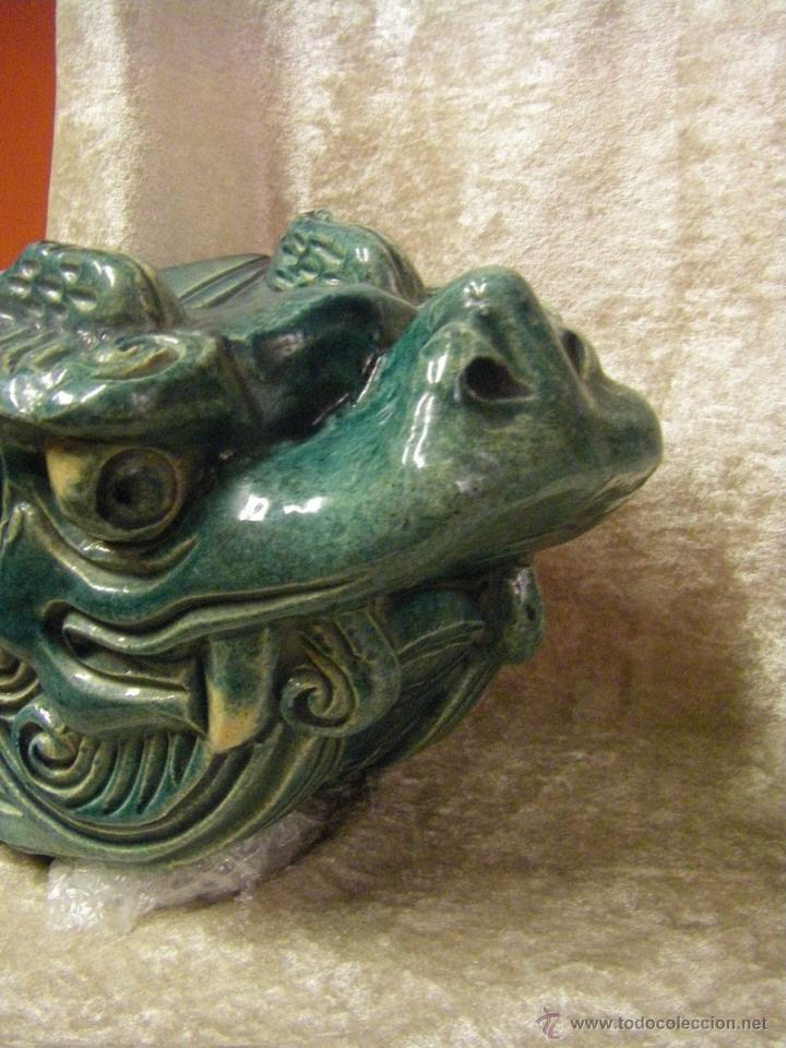 Antigüedades: Linternones cerámicos originarios de China posiblemente siglo XIX - Foto 5 - 50572620