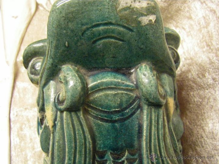 Antigüedades: Linternones cerámicos originarios de China posiblemente siglo XIX - Foto 11 - 50572620