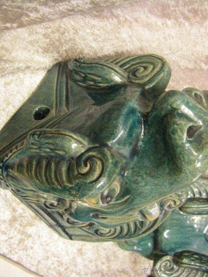 Antigüedades: Linternones cerámicos originarios de China posiblemente siglo XIX - Foto 12 - 50572620