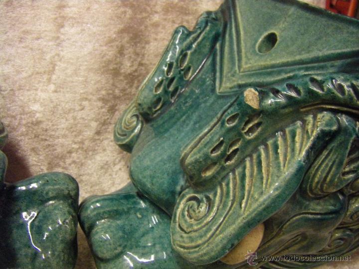 Antigüedades: Linternones cerámicos originarios de China posiblemente siglo XIX - Foto 16 - 50572620