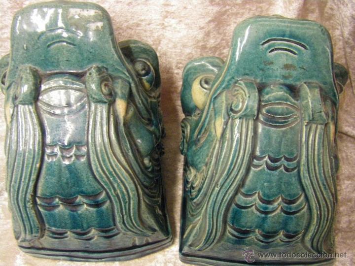 Antigüedades: Linternones cerámicos originarios de China posiblemente siglo XIX - Foto 22 - 50572620