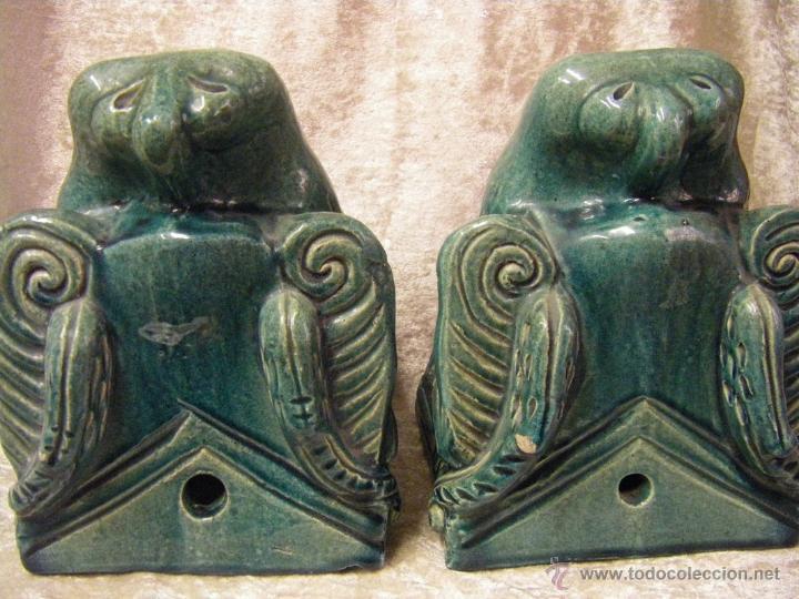 Antigüedades: Linternones cerámicos originarios de China posiblemente siglo XIX - Foto 26 - 50572620