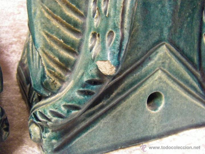 Antigüedades: Linternones cerámicos originarios de China posiblemente siglo XIX - Foto 27 - 50572620