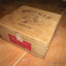 Antigüedades - caja cigarros PUROS TABACO antigua madera hofnar paradehfmar parade vacia - 50586437