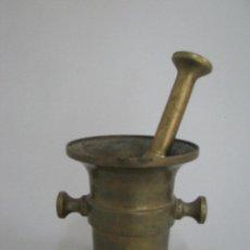 Antigüedades: ANTIGUO Y HERMOSO ALMIREZ DE BRONCE PESO 1KG APROX. Lote 50596628